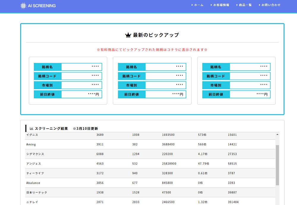 AIスクリーニングの口コミ検証 メンバーページ