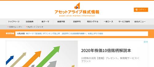 アセットアライブ株式情報の口コミ評判レビュー
